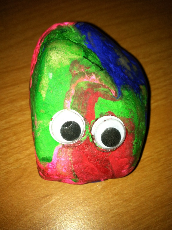 Charlie, the pet rock