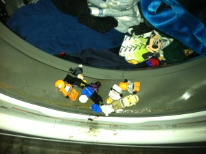Why are all these Lego men trapped in the washing machine?