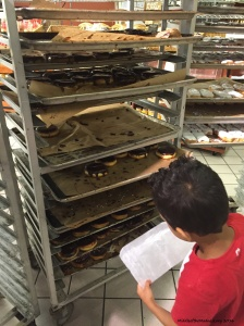 Choosing donuts for the teachers on the last day.